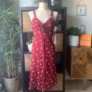 NWT Floral Tie Front Dress